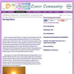 Sun Yoga Practices for Spiritual Development