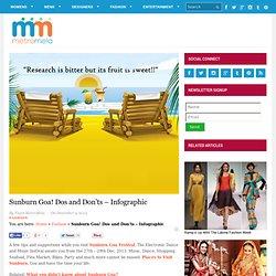 Sunburn Goa! Dos and Don'ts - Infographic - MetroMela