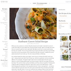 Sunburst Carrot Salad Recipe