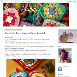 Simple Sunburst Crochet Heart Tutorial