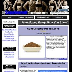 sunburstsuperfoods.com Coupon Codes & Discounts
