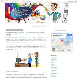 Website Design Services Lean Towards Interaction Design