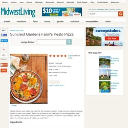 Suncrest Gardens Farm's Pesto Pizza