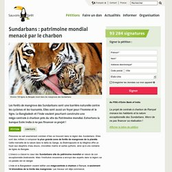 Sundarbans : patrimoine mondial menacé par le charbon