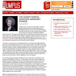 The Sunday Rumpus Interview: Margaret Atwood