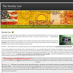 Sunday Law News Update - National Sunday Law