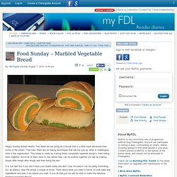 Food Sunday - Marbled Vegetable Bread