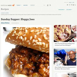 Sunday Supper: Sloppy Joes