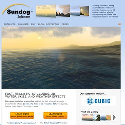 3D Cloud and Sky Visual Simulation: SilverLining™ by Sundog Software