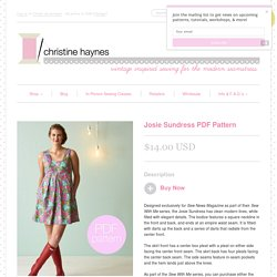 Josie Sundress PDF Pattern – Christine Haynes