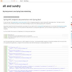 all and sundry: Spring MVC endpoint documentation with Spring Boot
