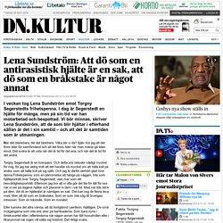Lena Sundström: Att dö som en antirasistisk hjälte är en sak, att dö som en bråkstake är något annat
