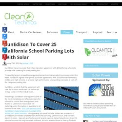 SunEdison To Cover 25 California School Parking Lots With Solar