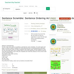 Sentence Scramble: Sentence Ordering Activity... by Sunflower Inspirations