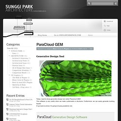 SUNGGI PARK's BLOG » ParaCloud GEM
