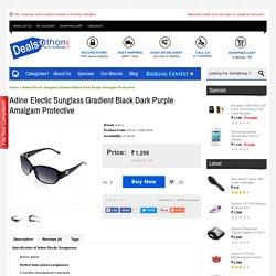 Adine Electic Sunglass Gradient Black Dark Purple Amalgam Protective