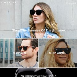 Capital - Wood Sunglasses Handmade in the USA