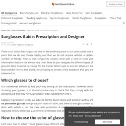 Sunglasses Guide: Prescription and Designer