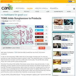TOMS Adds Sunglassses to Products