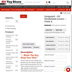 Sunguard - RV Windshield Covers - Class A : RV Toy Store