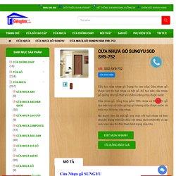 Cửa Nhựa gỗ SUNGYU SGD SYB-752 - GIAHUYDOOR 0886.500.500