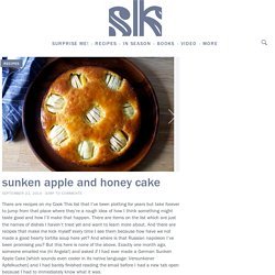 sunken apple and honey cake – smitten kitchen