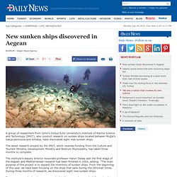New sunken ships discovered in Aegean - ARCHAEOLOGY