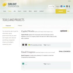 Sunlight Labs Projects