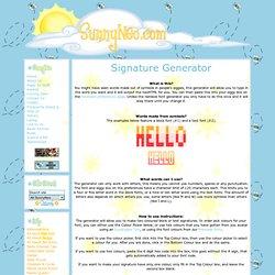 SunnyNeo - Signature Generator