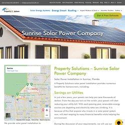 Sunrise Solar Power Panel Installation Company