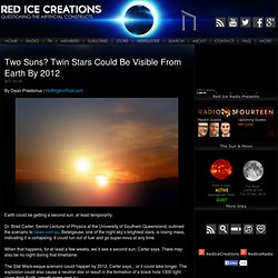 Two Suns? Twin Stars Could Be Visible From Earth By 2012