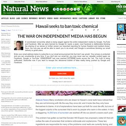 Hawaii seeks to ban toxic chemical sunscreens to save the coral reefs from chemical decimation – NaturalNews.com