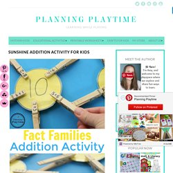 Sunshine Addition Activity for Kids - Planning Playtime