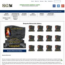 Bespoke Granite Memorial Headstone