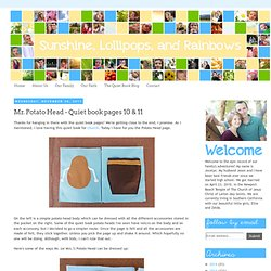 Mr. Potato Head - Quiet book pages 10 & 11