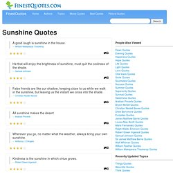 Sunshine Quotes :: Finest Quotes