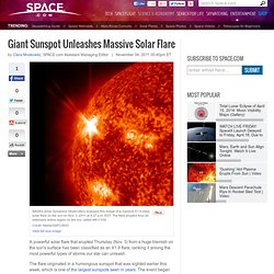 Giant Sunspot Unleashes Massive Solar Flare