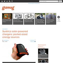 Suntrica solar-powered chargers: pocket-sized energy sources