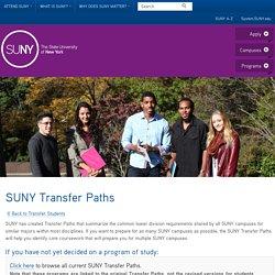 SUNY Transfer Paths - SUNY