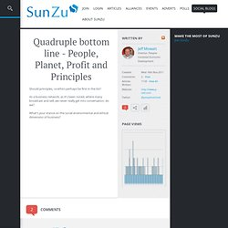 Quadruple bottom line - People, Planet, Profit and Principles