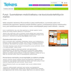 Funzi: Suomalainen mobiiliratkaisu vie koulutusta kehittyviin maihin