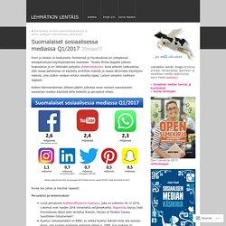 Suomalaiset sosiaalisessa mediassa Q1/2017