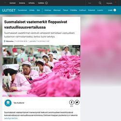 Suomalaiset vaatemerkit floppasivat vastuullisuusvertailussa