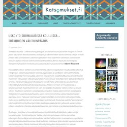 Uskonto suomalaisissa kouluissa – tutkijoiden välitilinpäätös