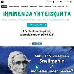 J. V. Snellmanin päivä, suomalaisuuden päivä 12.5.
