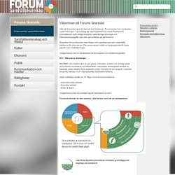 Suonline - Forums lärarsida