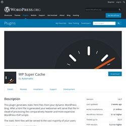 WP Super Cache – WordPress plugin