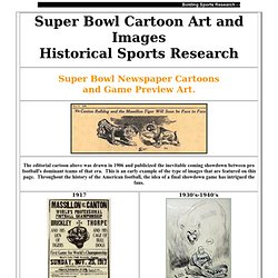 Super Bowl Cartoon Art and Sports History