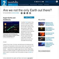 Super-Earths and Goldilocks - The Goldilocks Zone
