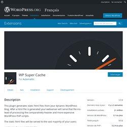 WP Super Cache – Extension WordPress